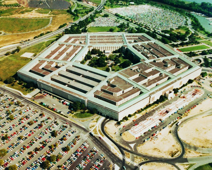 Aerial view of the Pentagon.