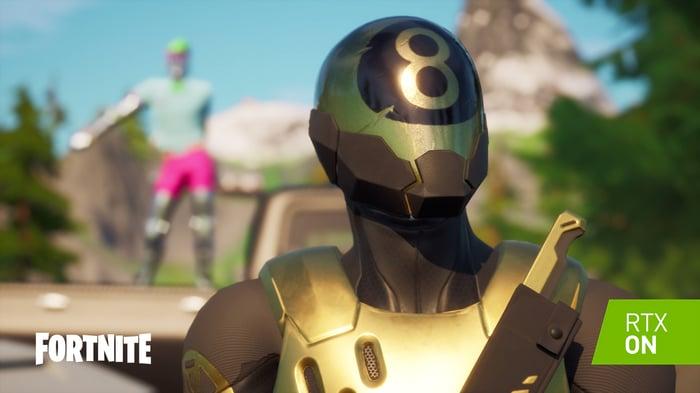 Screenshot of a character in Fortnite