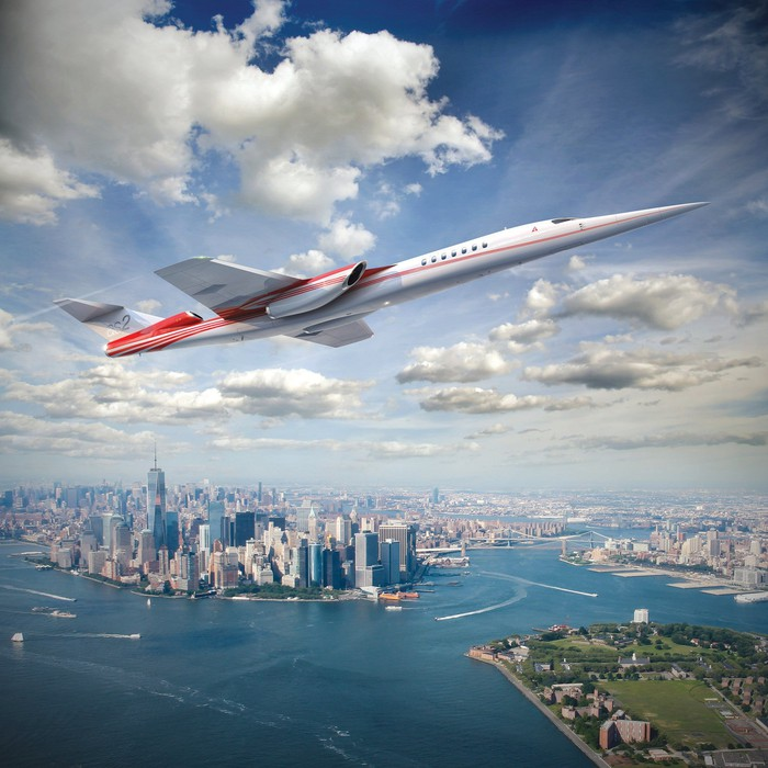 Artist's conception of Aerion's new supersonic business jet.