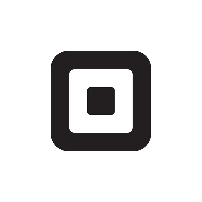 The Square logo -- a small black square in the middle of a larger white square and a still larger black square.