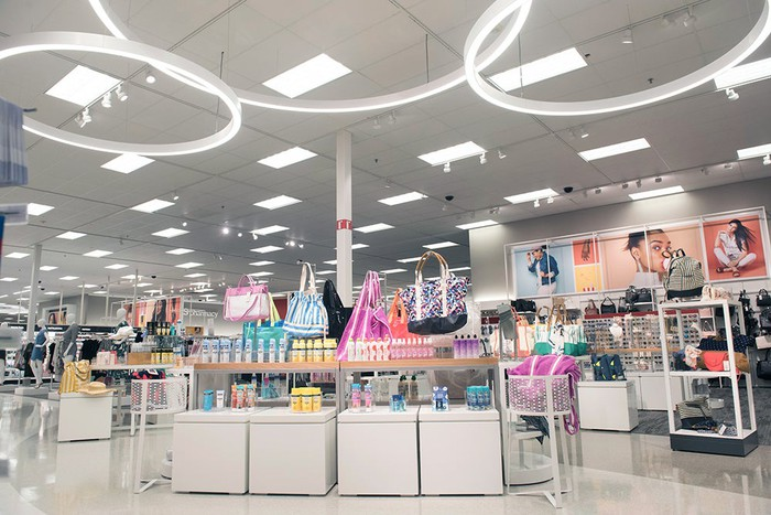 The interior of a Target store.
