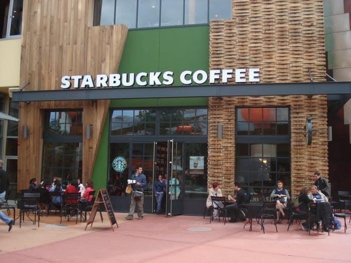 Starbucks store in Paris.