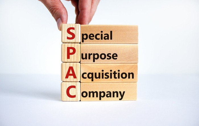 Building blocks spelling out SPAC, for Special Purpose Acquisition Company