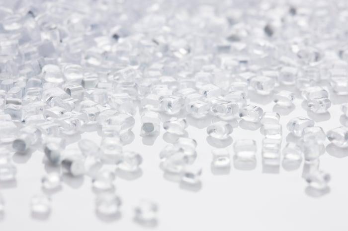 Ethylene pellets.