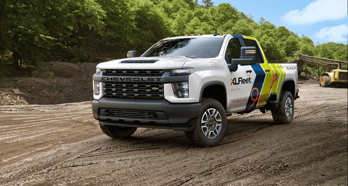 XL Fleet plug-in hybrid work pickup truck