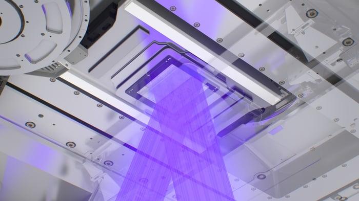 The interior of an EUV machine.