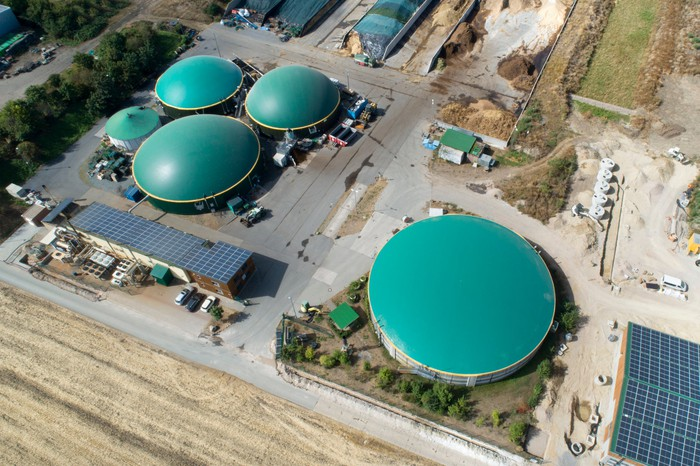 landfill-to-energy plant creating renewable natural gas