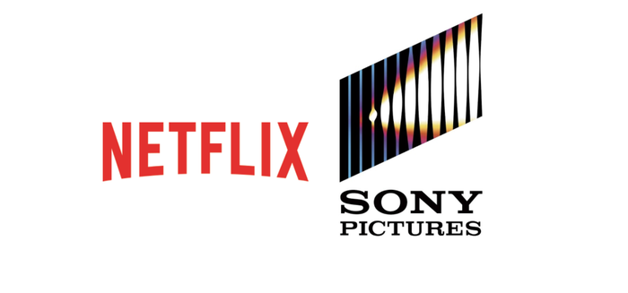 The Netflix and Sony Pictures logos