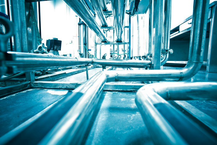 water treatment piping and infrastructure