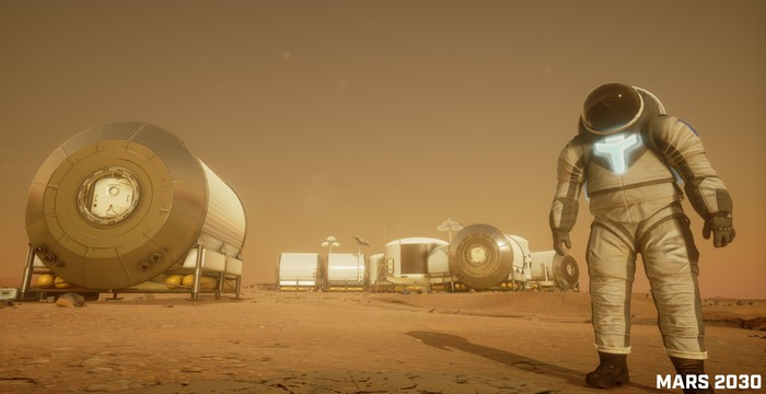 An astronaut on the surface of Mars.  -  url https 3A 2F 2Fg - ARK Is Investing in Space Exploration: These 2 Tech Stocks Could Blast Off