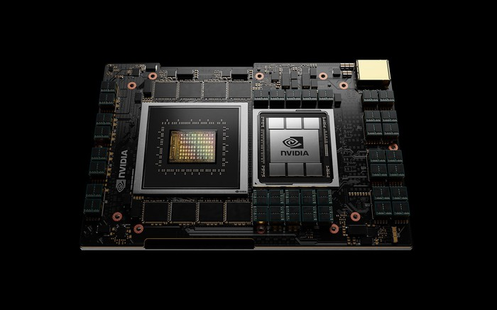The NVIDIA Grace CPU for data centers.