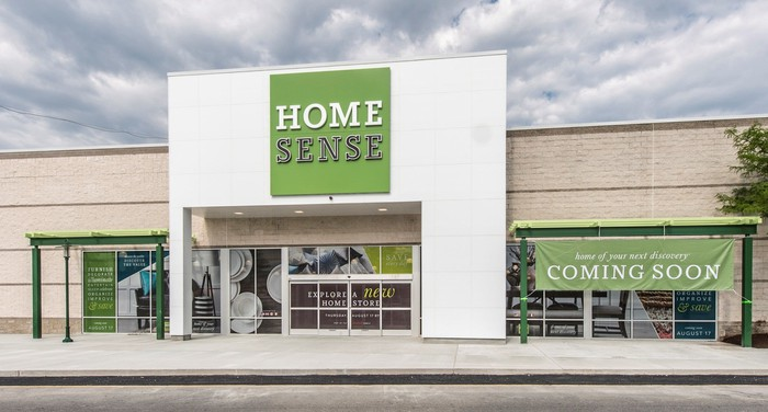 The exterior of the first U.S. HomeSense store