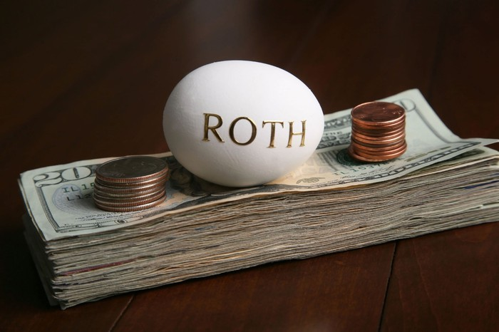 Roth egg on top of money.