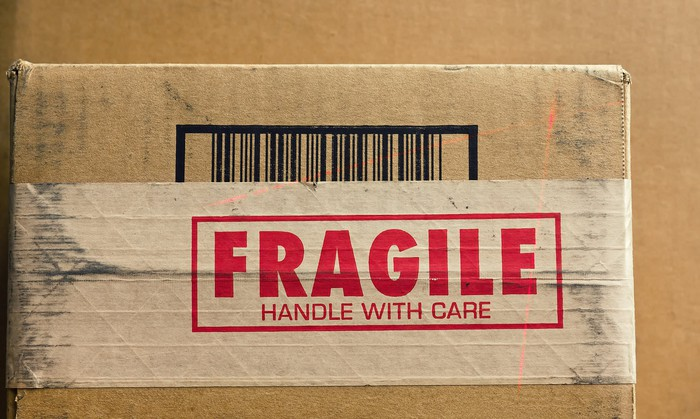 A box labeled fragile.