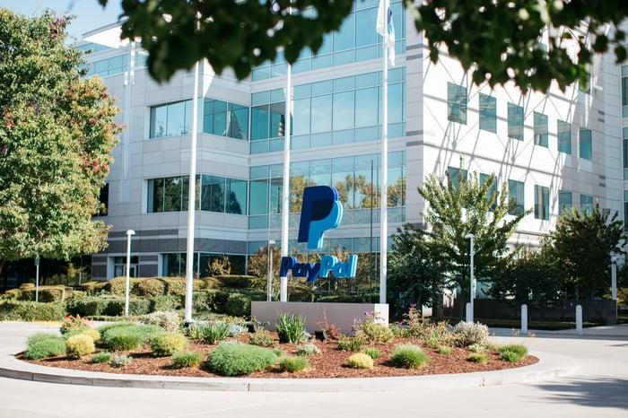 PayPal headquarters building facade.