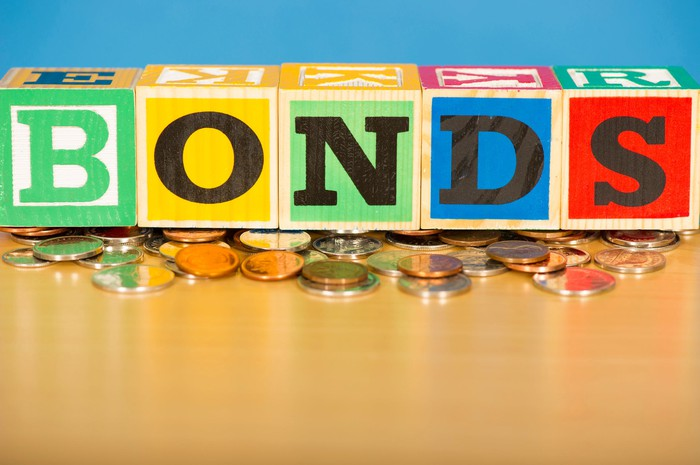 The word Bonds spelled out with blocks.