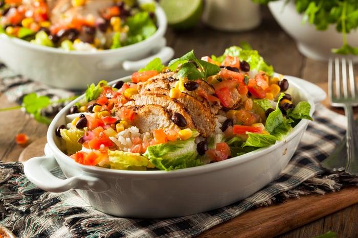 A burrito bowl.