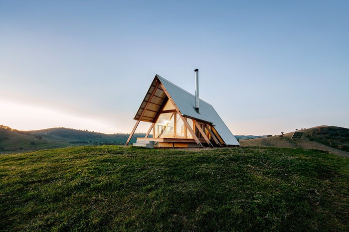 Airbnb camping hut in Wales.