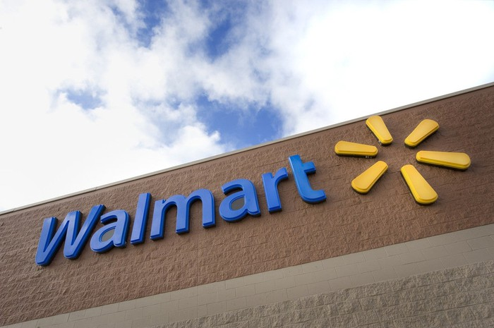 Walmart store sign and logo