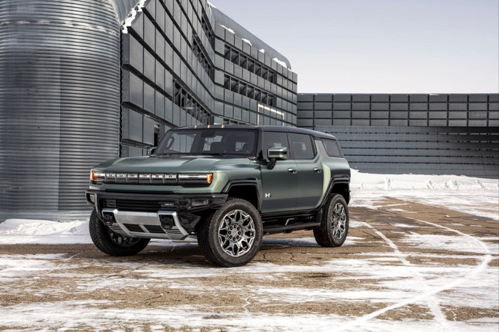 The electric GMC Hummer.