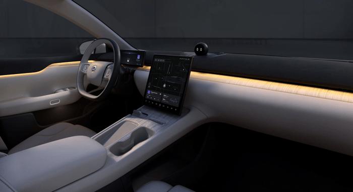 interior of ET7 luxury electric sedan