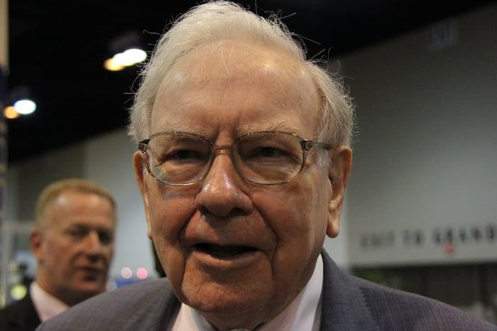 Warren Buffett at a meeting.