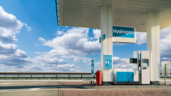A hydrogen fueling station.