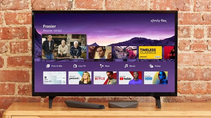 Comcast's Peacock homescreen on its Xfinity Flex platform.