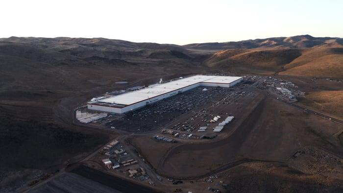 A Tesla gigafactory in Nevada.