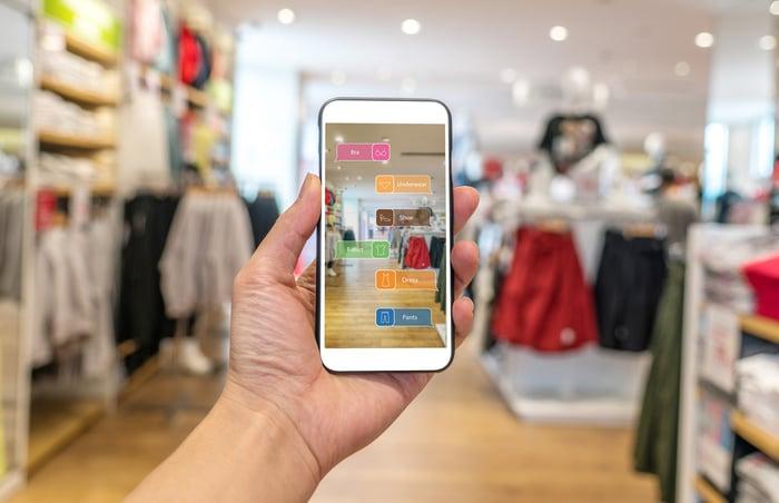 An AR shopping app.