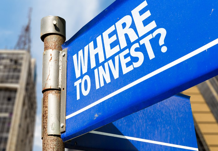 A street sign that reads where to invest.