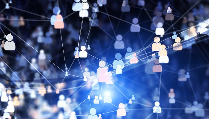A network of digitally connected people.
