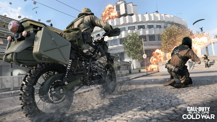 Screenshot of gameplay from Call of Duty Black Ops Cold War video game.