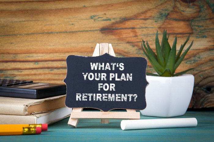 A sign reading What's Your Plan for Retirement?