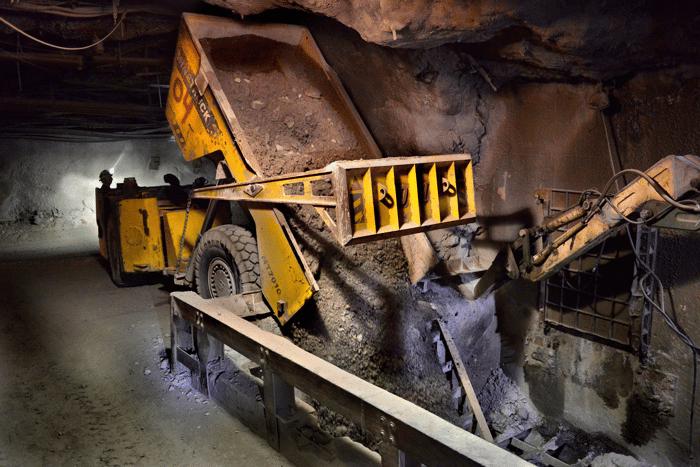 underground mining at Hecla's Idaho Lucky Friday mine