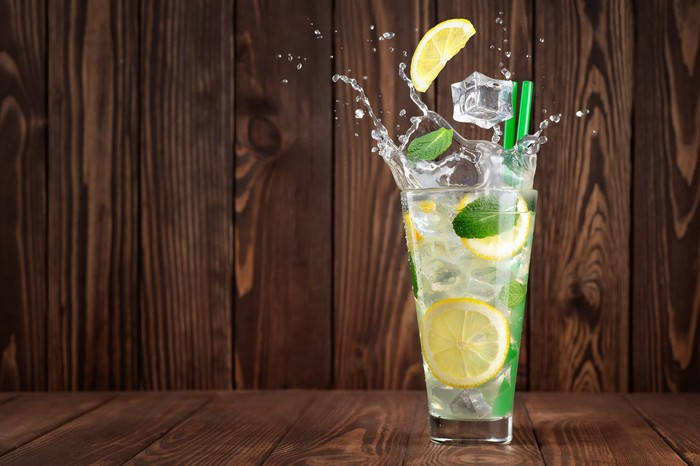 Glass of lemonade.