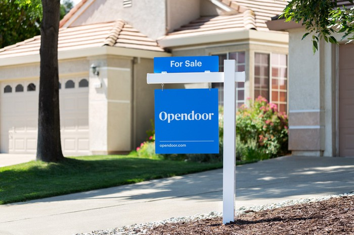 An Opendoor For Sale sign in front of a home