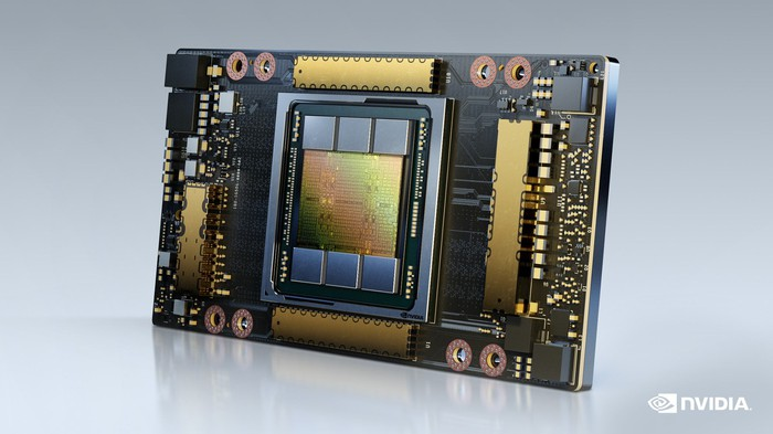 A computing chip is shown.