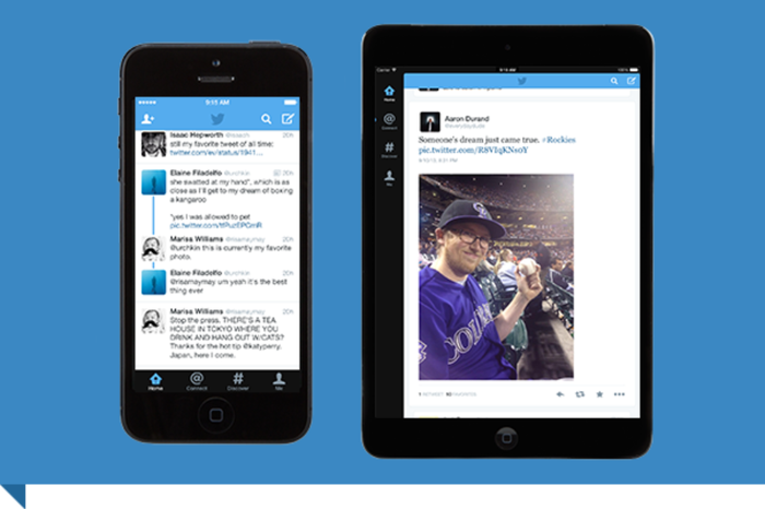 Twitter feed on mobile devices