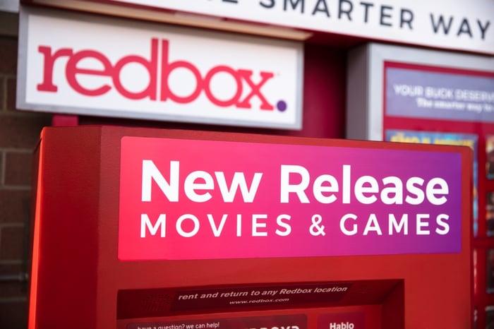 A Redbox kiosk.