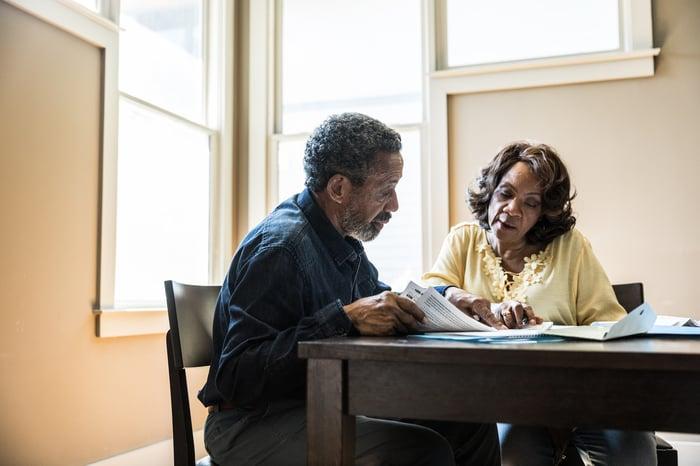 A couple developing a financial plan
