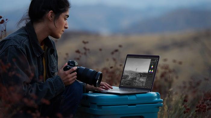 Apple's new 13-inch, M1-powered MacBook Pro.