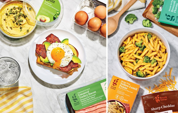 An assortment of foods from Target's Good & Gather line.