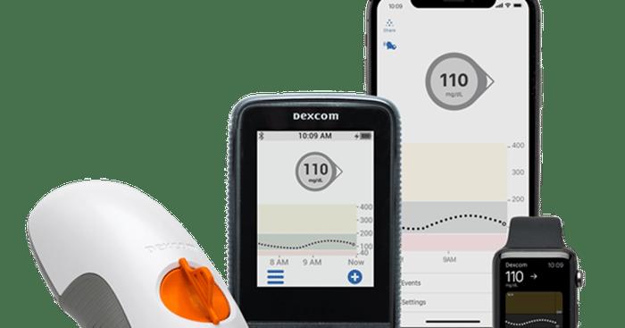 Appareils et applications de surveillance continue du glucose DexCom G6