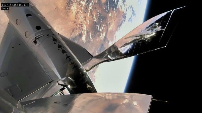 Virgin Galactic VSS Unity in space.