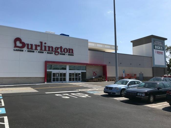 The exterior of a Burlington store
