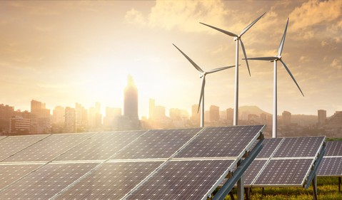 Solar and Wind With Urban Background