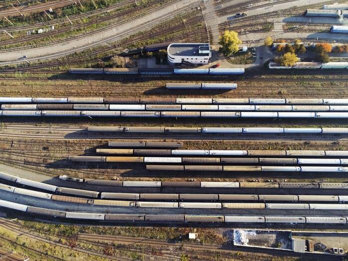 A railway hub.