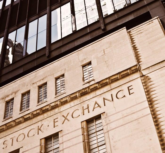 Facade of the Toronto Stock Exchange building.
