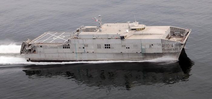 Austal EPF at sea.